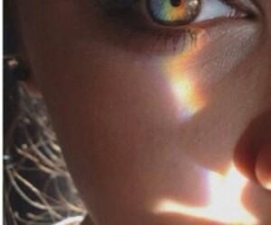 beautiful, rainbow, and eyes image