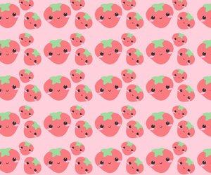 strawberry, kawaii, and wallpaper image