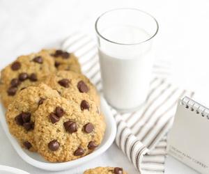 milk, chocolate, and food image