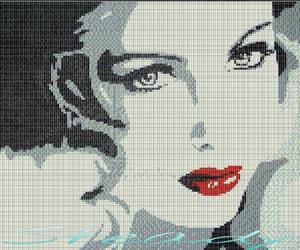 art, illustration, and lips image