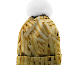 beanie, fashion, and fries image