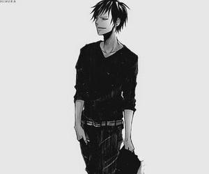 anime, black and white, and durarara image