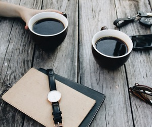 coffee, watch, and drink image