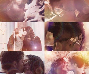 kiss, the hunger games, and katniss image
