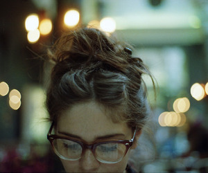 girl, glasses, and vintage image