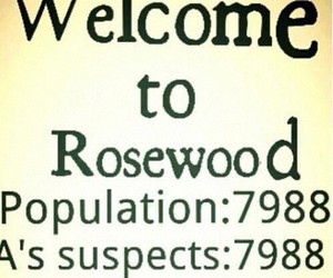 pretty little liars, rosewood, and pll image