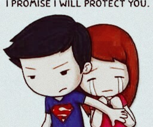 love, protect, and superman image