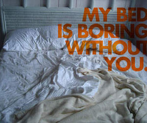 bed, love, and quote image