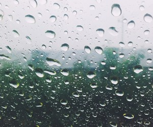 autumn, dark, and rain image