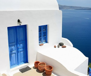blue, Greece, and beautiful image