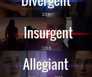 divergent, Shailene Woodley, and insurgent image