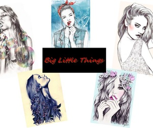 cool, biglittlethings, and draw image