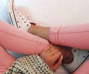 converse, oversized, and sweater image