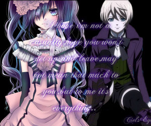 black butler, ciel, and phantomhive image