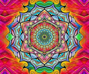 mandala, colors, and colorful image