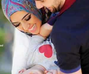 family, baby, and hijab image