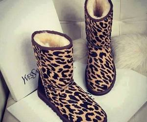 boots, shoes, and leopard image