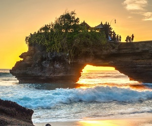 beach, beautiful, and scenery image