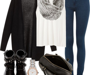 black, sweter, and outfits image