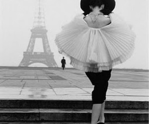 black & white, fashion, and paris image
