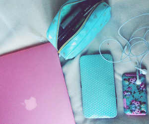 apple, flowers, and girly image