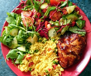 Chicken, fitness, and food image