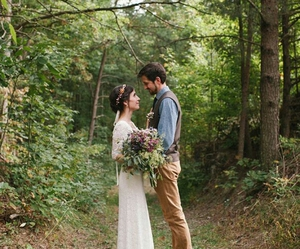 bohemian, bride, and couple image