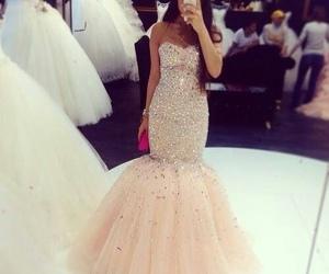 dress, wedding, and Prom image