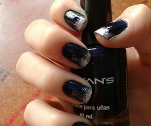 black, blue, and ombre image