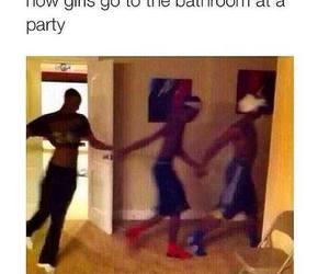 bathroom, funny, and girls image