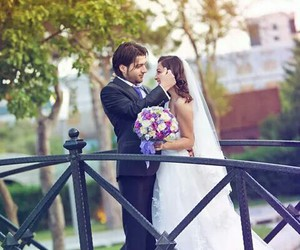 couple, fashion, and flowers image