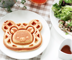 bear, food, and waffle image
