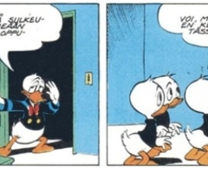donald duck, finland, and suomi image