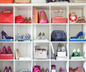 shoes, bag, and closet image