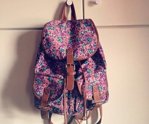 flowers and backpack image