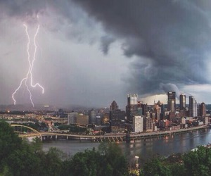 city and storm image