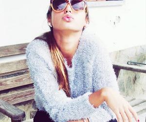 girl, kiss, and style image