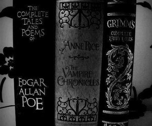 book, edgar allan poe, and horror image