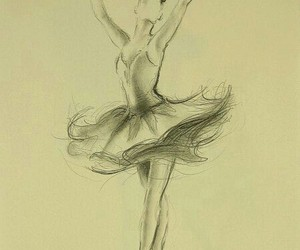 ballerina, drawing, and رسم image