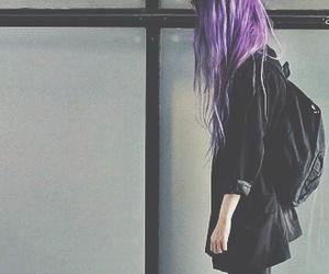 grunge, hair, and black image