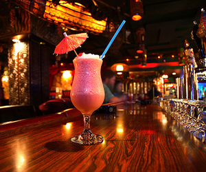 drink, pink, and bar image