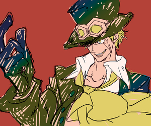 one piece, sabo, and fire fist sabo image