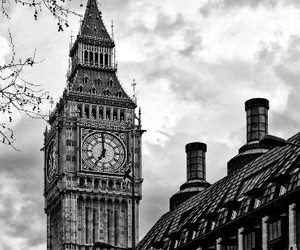 beautiful, london, and black and white image