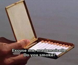 smoke, cigarette, and Mademoiselle image