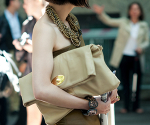 bag, clutch, and fashion image