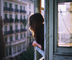 girl, window, and vintage image