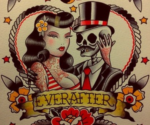old school, tattoo, and psychobilly image