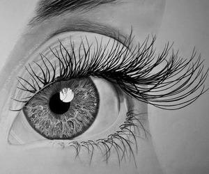eyes, drawing, and eye image