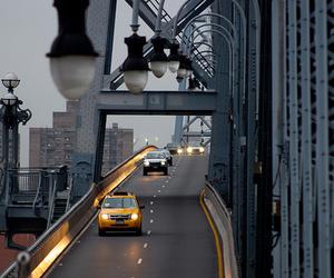 city, street, and bridge image