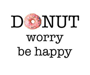 donuts, happy, and worry image